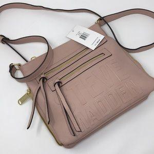 Steve Madden Crossbody Bag Blush Pink logo NWT $68